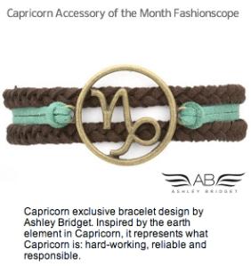 Capricorn Accessory Month Fashiosncope