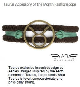 Taurus Accessory Month Fashionscope